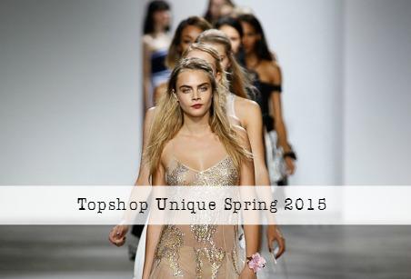 Topshop Unique Spring 2015 RTW at London Fashion Week