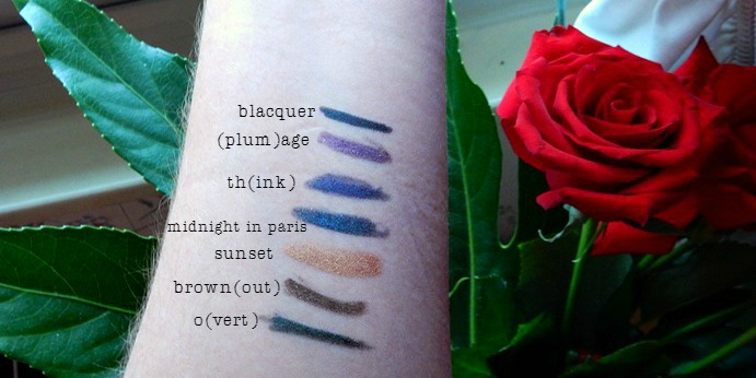 Marc Jacobs Highliner Holiday Gift Set Swatches