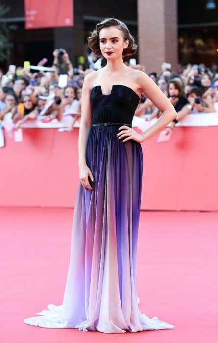 Lily Collins in Elie Saab - Best Fashion Moment 2014
