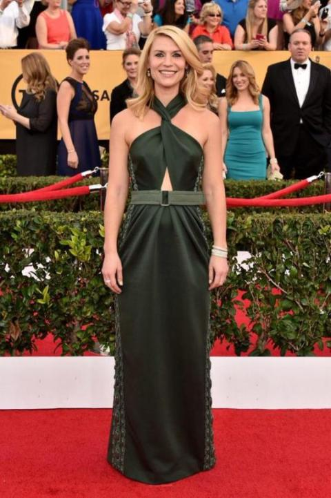 Claire Danes in Marc Jacobs at 2015 SAG Awards