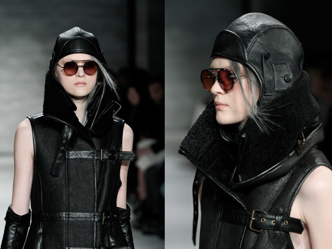 Nicholas K Fall/Winter 2015 headgear at NYFW