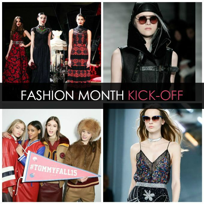 New York Fashion Week - spring 2016 kickoff