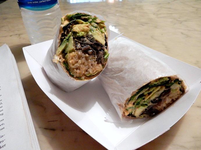 Vegan Lunch: Portabella Mushroom and Avocado Wrap from The Loving Hut