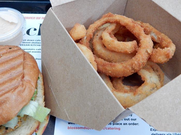 Blossom du Jour Vegan Onion Rings - NYC Food Diary